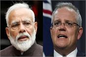 scott morrison  narendra modi  virtual convention