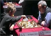 kasparov holds carlsen in their first clash in 16 years