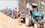 farmer protest tractor trolley series