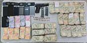 lopoke police nab 4 smugglers with lakhs of drug money and pistols