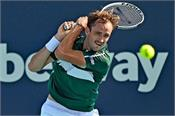 daniil medvedev  miami open  struggling win