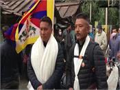 two tibetan activists  bike rally