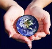 give this hand to save the earth  take that hand