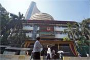 sensex opens in red