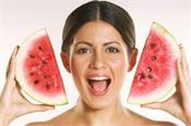 beauty tips  wear a face mask watermelon spotless and radiant face
