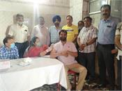 corona prevention vaccination camp was inaugurated by mla amit vij