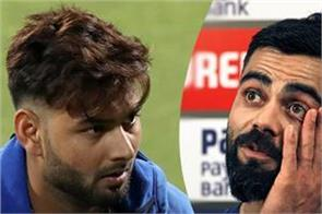 virat kohli signaled that pant could be out of the first t20