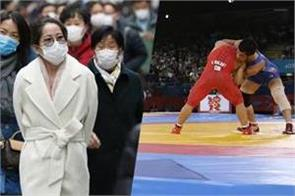 fear of corona virus now seen in asian wrestling championships
