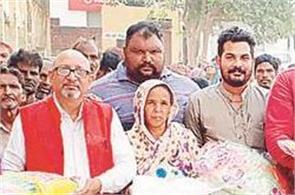 punjab kesari group  s relief distribution team