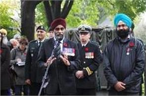 can  t forget the contribution of sikhs fighting for canada  harjeet sajjan