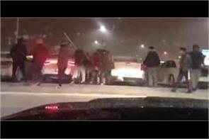 violence ensues in parking lot of brampton plaza