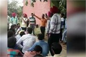 demonstrations from youths in the employment fair held in patiala