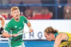 hockey world cup  a 2 1 win over ireland in ireland
