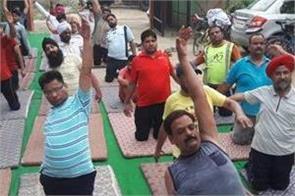 international yoga day celebrated at echs polyclinic