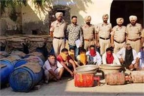 illegal liquor recovered on 10 thousand liters