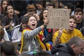 50 000 people protest against the imprisonment of separatist leaders