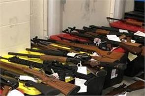 ontario  police found 250 guns and 2 million rounds