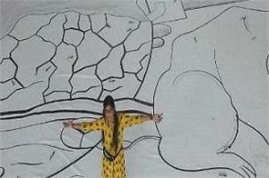 70 feet long 70 wide largest drawing broke record
