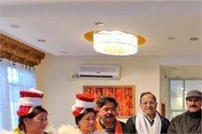 bjp opens office at 11500 feet height in leh ladakh