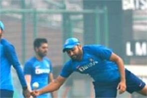 rohit sharma injured during practice left the field