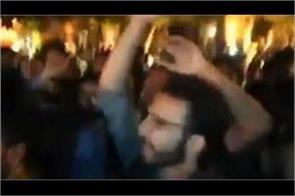 students chant azadi slogan in pakistan literary fest