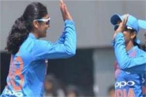indian women team win by poonam half century