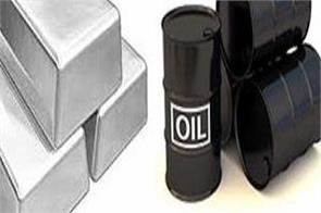 crude oil cool  gold and silver move faster