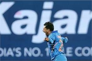 kuldeep became indias first bowler to take two hat tricks in odis