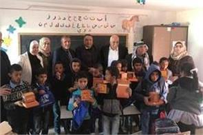 india donates solar powered lamps to marginalised palestinian children