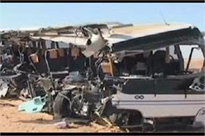 12 killed in bus truck collision in egypt