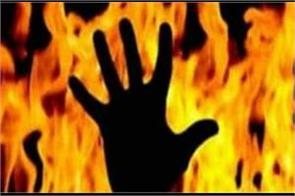 kanpur  dabang burnt alive young man in shop