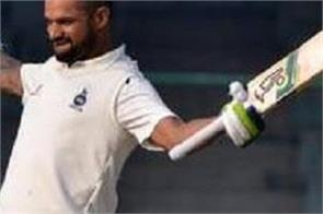 shikhar s unbeaten hundred left delhi out of the crisis