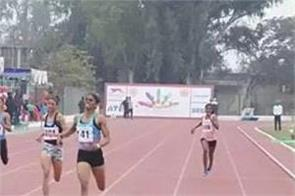wiseman overtakes hima das in the 400 meter race