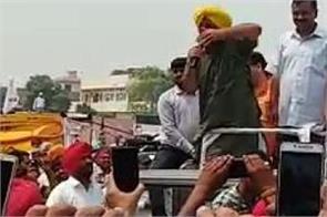 sangrur kejriwal bhagwant mann road show