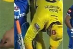 raina tying shoe laces of pant csk vs dc qualifier 2 in ipl 2019