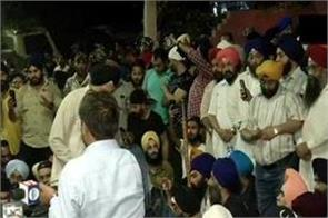 protest at mukherjee nagar in case of sikh auto driver thrashed by policemen
