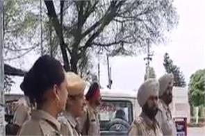 mohinderpal murder case  police  flag march