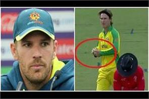 finch saved zampa  s defense on tampering with the ball