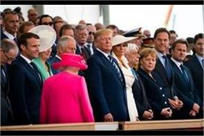 queen and trump joined in the program organized in memory of world war ii