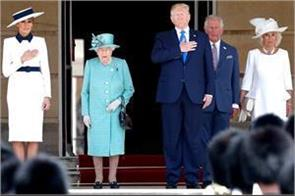 us president trump  s queen in buckingham palace wonderful reception