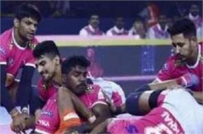 jaipur defeated u mumba 42 23