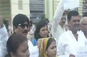 opposition mlas at the bihar assembly protest