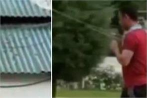 dhoni plays volleyball with oj men in kashmir video