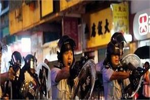 hong kong protests police use water cannon