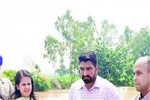 river ghaggar  danger  patiala  deputy commissioner