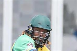 chris gayle storm vancouver knights a 6 wicket win over edmonton royal