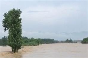 himachal pradesh  sawan river  rain  anandpur sahib