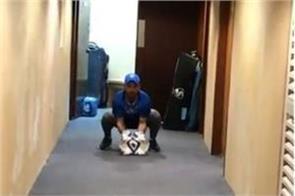 rishabh pant with kuldeep yadav play cricket in the hotel corridor