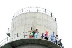 barnala  college  students  water tanki
