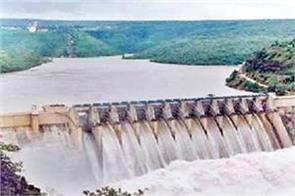 bhaka dam opens high flood gate as water level rises
